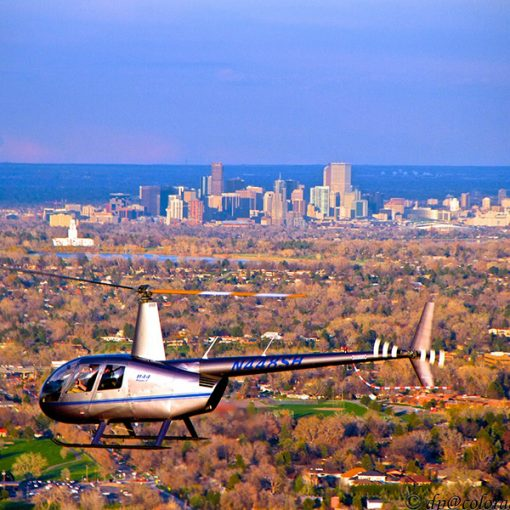 denver, denver scenic flight, mile high city, 60 minute flight, robinson r44